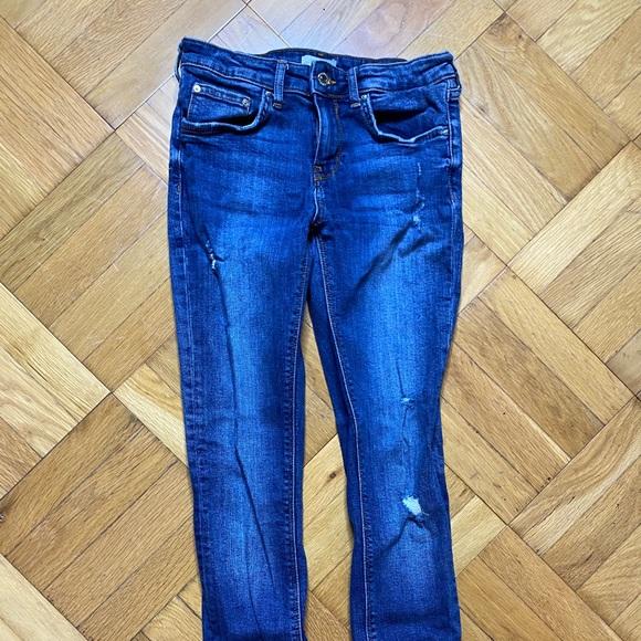 Zara premium dark wash size 4 jeans